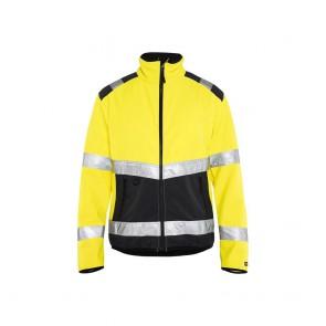 Veste softshell haute-visibilité Blaklader noir jaune