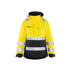 Veste hiver haute visibilité Femme Blaklader noir jaune