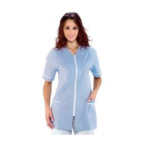 Tunique médicale femme Isacco victoria bleue rayée