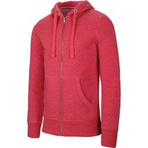 Sweat-shirt de travail zippé capuche Kariban mélange Rouge