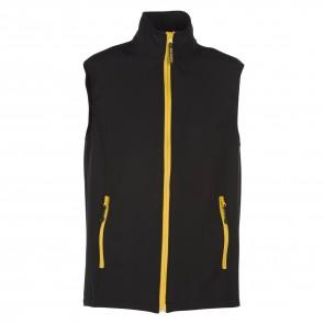 Bodywarmer softshell 2 couches Penduick Gibraltar noir jaune