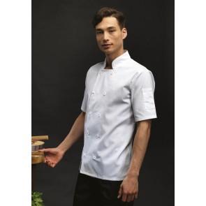 Veste mixte de cuisinier manches courtes