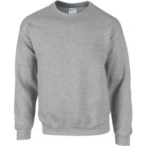 Sweat-shirt col rond Gildan Dryblend gris