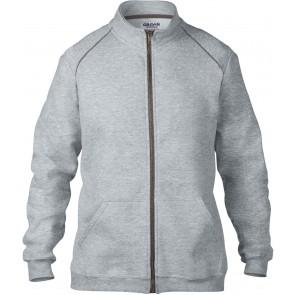 Veste molleton zippée premium Gildan gris