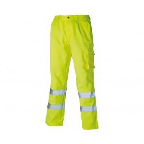 Pantalon de travail haute visibilité Dickies polycoton Jaune Fluo
