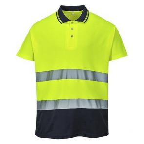 Polo Haute Visibilité Portwest Bicolore Coton jaune