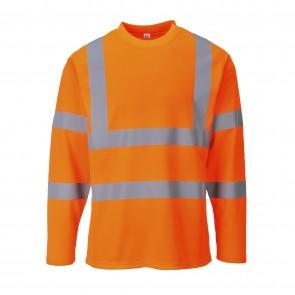 T-Shirt Haute Visibilité manches longues Portwest orange