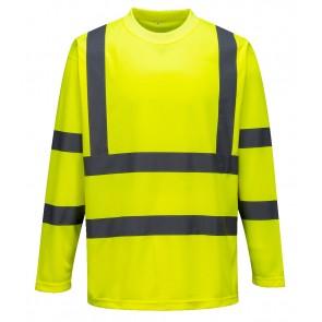 Tee-shirt haute visibilité manches longues Portwest - Jaune