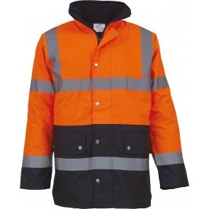 Veste de sécurité bicolore haute visibilité YOKO Orange/ marine GO/RT 3279
