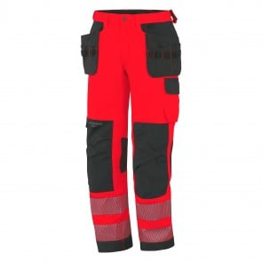 Pantalon Haute-visibilité YORK CONSTR CL 2 Helly hansen rouge