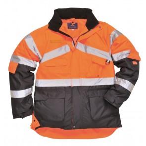 Parka Haute visibilité Bicolore Portwest Respirant orange