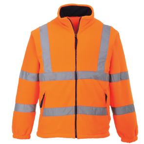 Polaire Haute-Visibilité doublé filet Portwest orange