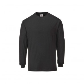 Tee shirt manches longues retardateur de flamme antistatique Portwest NOIR