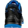 Basket de sécurité basse Puma Argon Blue Low 100% non métallique ESD S3 SRC Noir / Bleu Dos