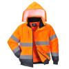 Blouson 2 en 1 Haute visibilité Portwest - Orange / Marine à capuche 1
