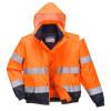 Blouson 2 en 1 Haute visibilité Portwest - Orange / Marine à capuche