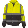 Blouson de travail bicolore haute visibilité YOKO - Jaune / Marine