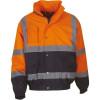 Blouson de travail bicolore haute visibilité YOKO - Orange / Marine
