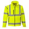 Blouson Softshell manches amovibles Portwest Haute visibilité - Jaune Fluo
