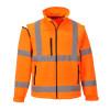 Blouson Softshell manches amovibles Portwest Haute visibilité - Orange Fluo