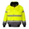 Blouson haute visibilité 3 en 1 Portwest manches amovibles bicolore - Jaune / Gris