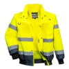 Blouson haute visibilité 3 en 1 Portwest manches amovibles bicolore - Jaune / Marine