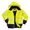 Blouson haute visibilité 3 en 1 Portwest manches amovibles bicolore - Jaune / Noir