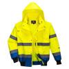 Blouson haute visibilité 3 en 1 Portwest manches amovibles bicolore - Jaune / Royal