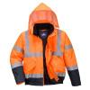 Blouson Haute Visibilité imperméable Portwest Orange/Marine