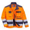 Blouson multipoches Haute Visibilité Portwest Lille Classe 3 - Orange / Marine