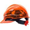 Casque de chantier translucide ventilé Portwest Peak View à crémaillère Orange Dos