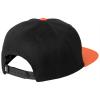 Casquette Helly Hansen KENSINGTON FLAT BRIM noir/orange dos