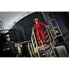 Combinaison de travail Dickies 100% coton avec bandes rétro réflechissantes - Combinaison de travail Dickies 100% coton rouge mannequin 2
