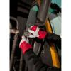 Gants de travail en cuir bovin Portwest DOCKER PREMIUM rouge porté 2