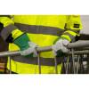Gants de travail en cuir bovin Portwest DOCKER PREMIUM vert porté 1