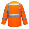 Gilet avec manches haute visibilité Portwest Glowtex Orange dos