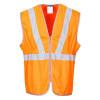 Gilet Haute Visibilité Portwest long GO/RT Orange 2
