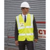 Gilet haute visibilité Result zippé - Gilet haute visibilité Result R202X jaune fluo porté
