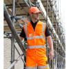 Gilet haute visibilité Result zippé - Gilet haute visibilité Result R202X orange fluo porté