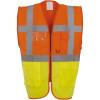Gilet multifonction haute visibilité Yoko orange jaune