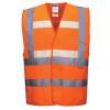 Gilet sans manche haute visibilité triple technologies Portwest Glowtex - Orange