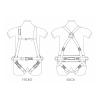 Harnais complet avec ceinture de maintien et sous-fessière Toplock avant arrière