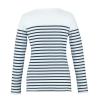 Marinière Femme Robur ANCRE - T-shirt marinière manches longues Divers Femme Robur ANCRE Blanc / Navy Dos