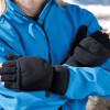 Mitaines-moufles antidérapantes Result POLAIRE - Mitaines moufles antidérapantes Result R363X noir portés