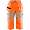 Pantacourt de travail Blaklader haute visibilité - Orange