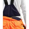 Pantalon à bretelles imperméable haute visibilité Blaklader hiver - Pantalon à bretelles imperméable haute visibilité Blaklader Hiver Orange / Marine Détail 2
