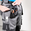 Pantalon de travail multi poches Albatros EXPERT 360° - Pantalon Albatros EXPERT 360° Noir / Gris porté1