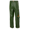 Pantalon de pluie imperméable Helly Hansen GALE CONSTRUCTION vert armée dos