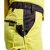 Pantalon de travail haute visibilité femme Blaklader renfort Cordura jaune / noir détail