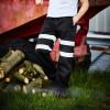 Pantalon de jogging haute visibilité Yoko CARGO - Pantalon de jogging haute visibilité Yoko YHV016T noir porté